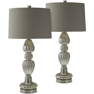 Scalloped 2-Pack Table Lamp Set