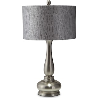 Metal Silver Table Lamp