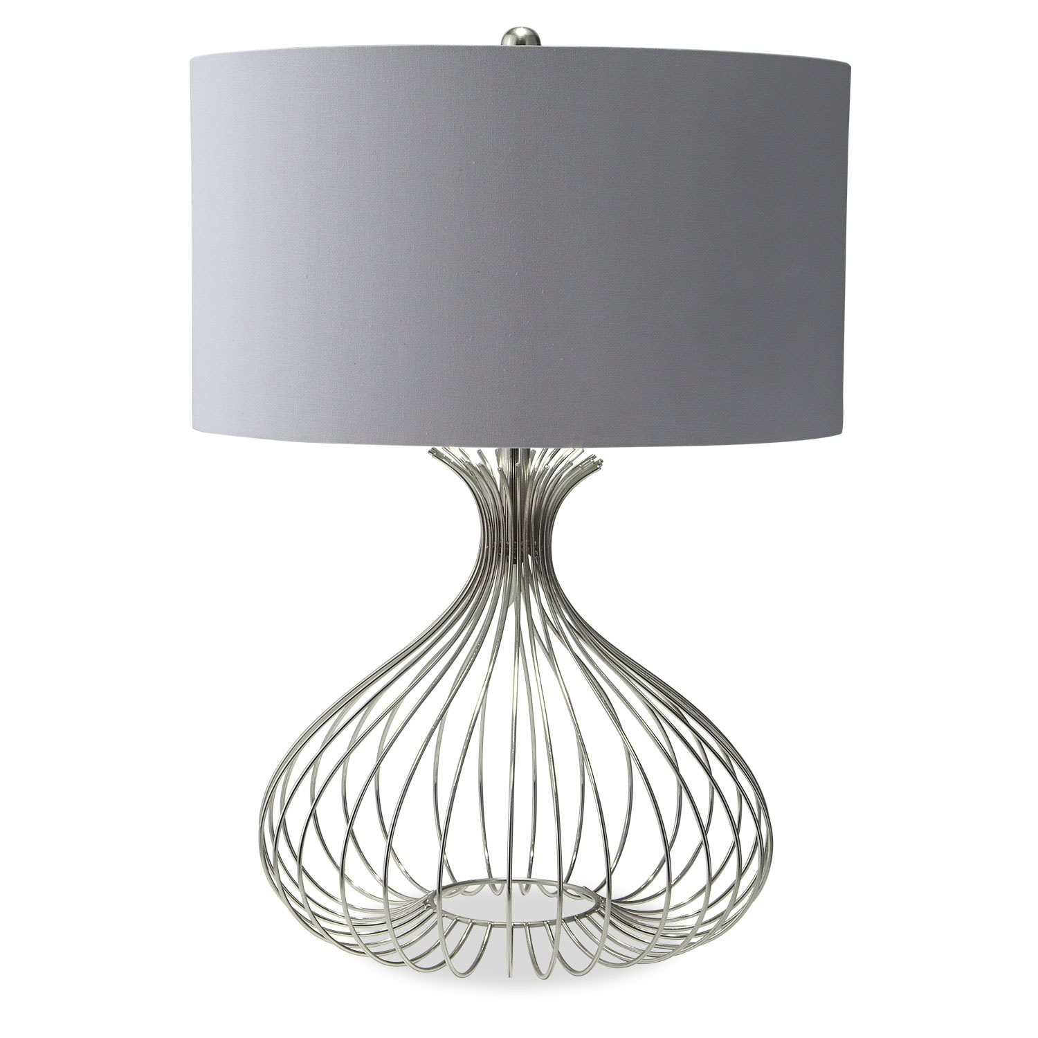 Nickel wire table lamp value city furniture and mattresses home accessories nickel wire table lamp greentooth Gallery