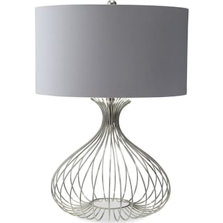 Nickel Wire Table Lamp