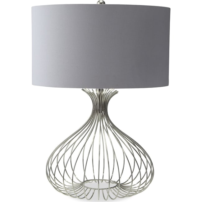 Home Accessories - Nickel Wire Table Lamp