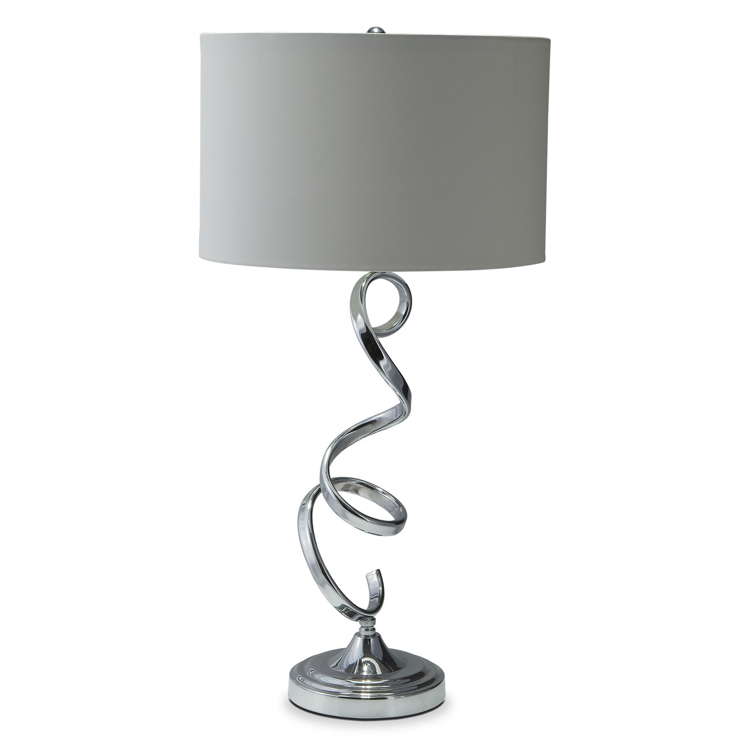 Nickel Swirl Table Lamp