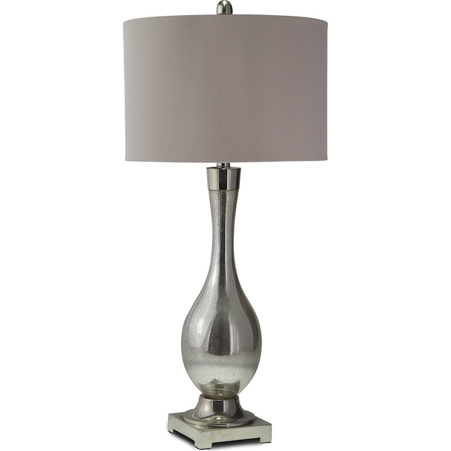 Mercury Glass Table Lamp Value City Furniture And Mattresses