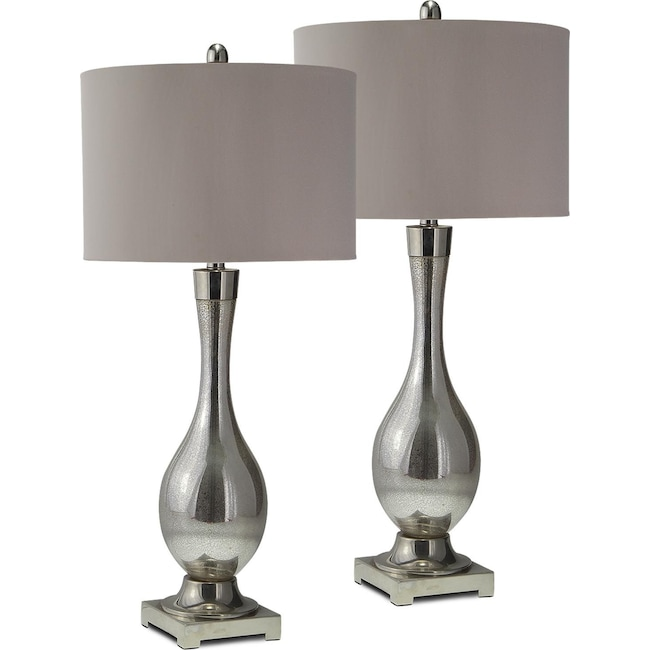 Home Accessories - Mercury Glass 2-Pack Table Lamp Set