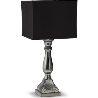Silver Black Mercury Table Lamp