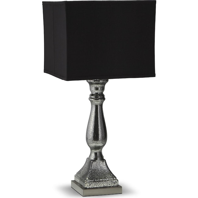Home Accessories - Silver Black Mercury Table Lamp