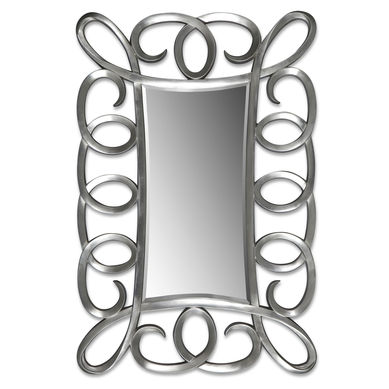 Carley Floor Mirror - Brushed Steel