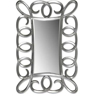 Carley Floor Mirror - Brushed Steel