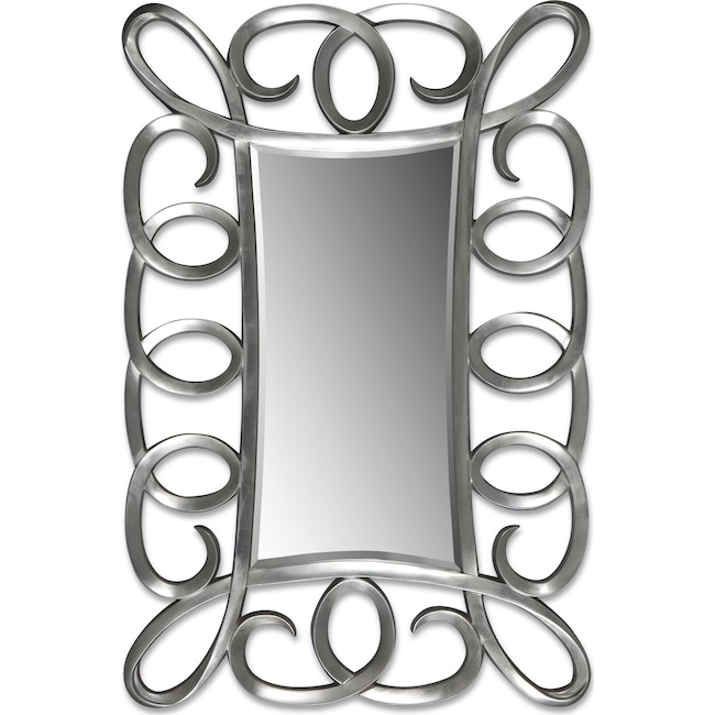 Accent and Occasional Furniture - Carley Floor Mirror - Brushed Steel