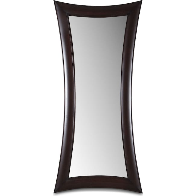 Accent and Occasional Furniture - Abigail Floor Mirror - Wenge