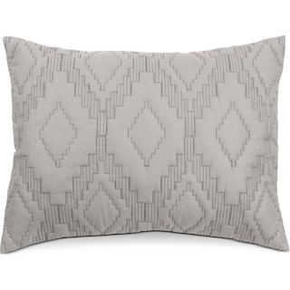 Dapper Quilted Sham - Gray