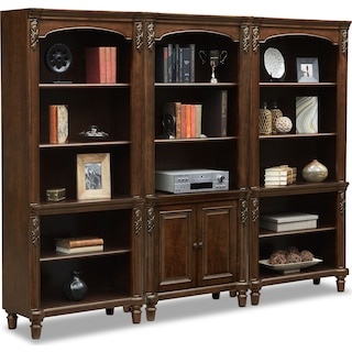 Ashland Wall Bookcase - Cherry