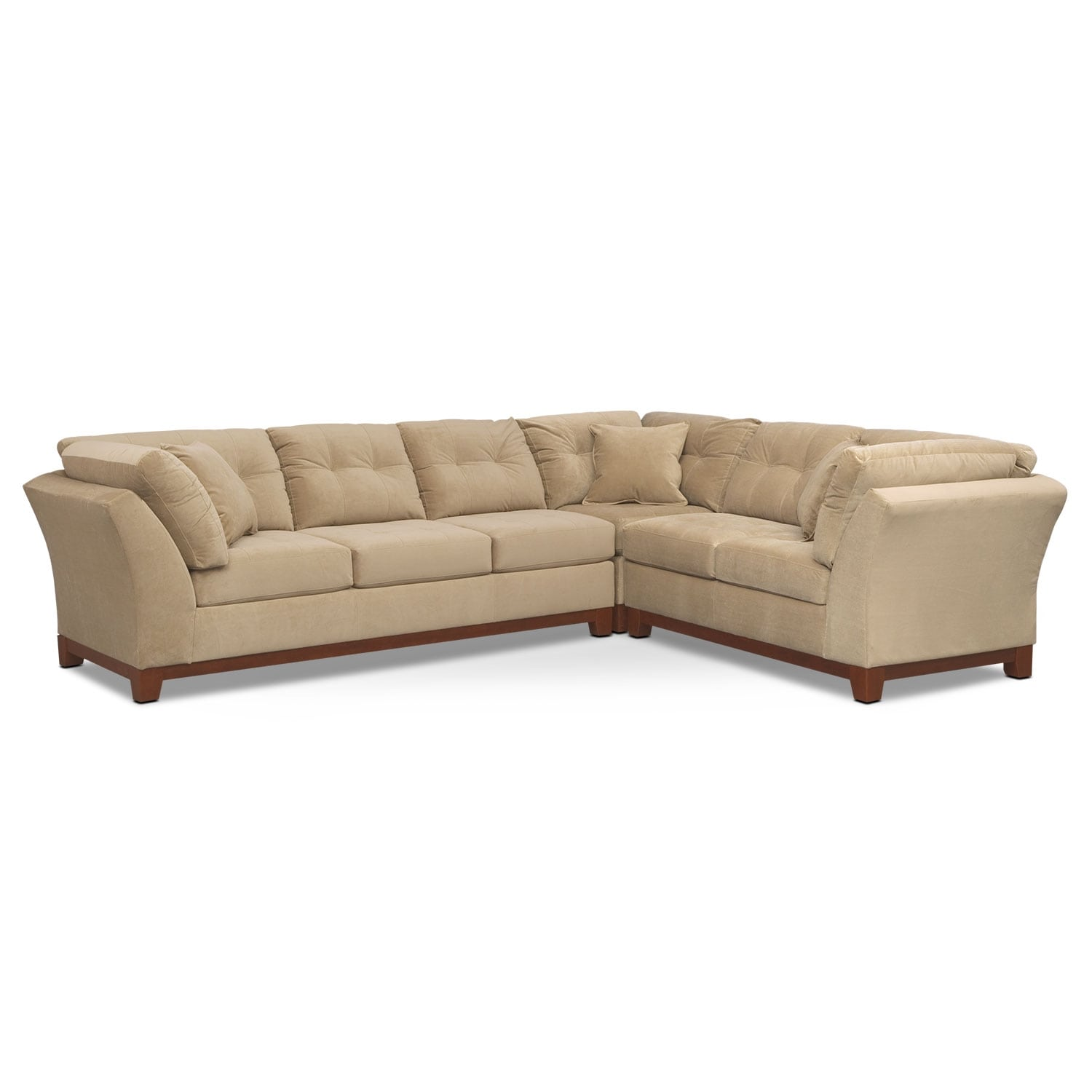 Solace 3-Piece Left-Facing Sofa Sectional - Cocoa