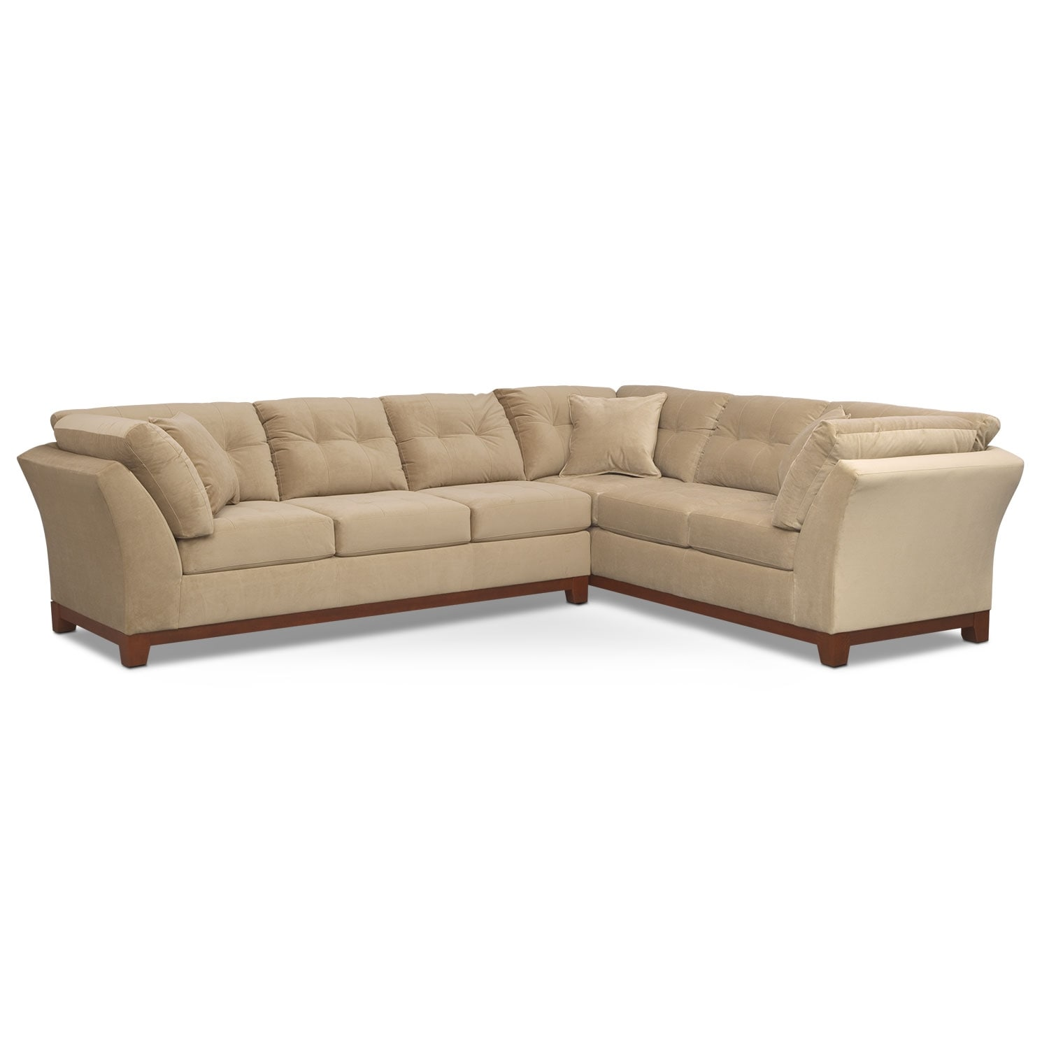 Living Room Furniture - Solace Cocoa II 2 Pc. Sectional (Reverse)