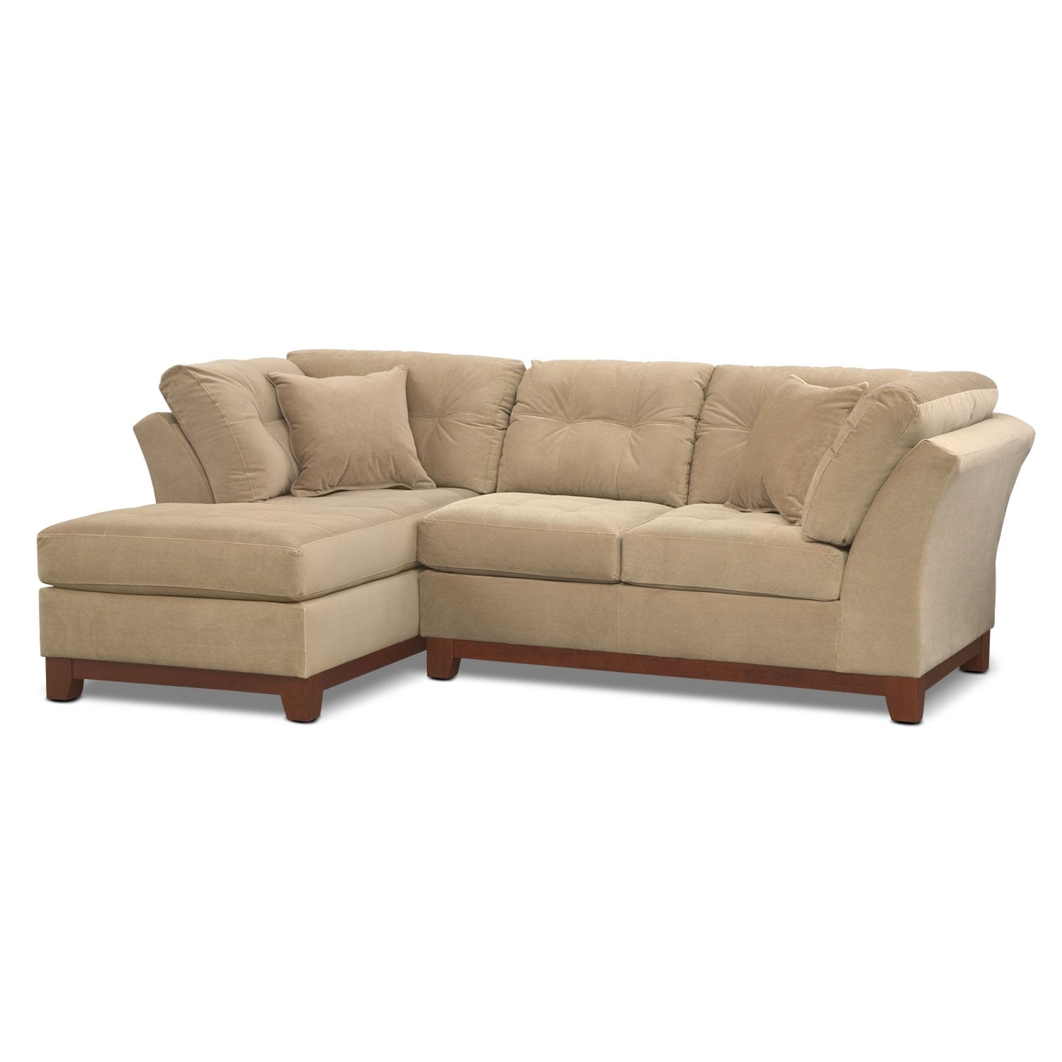 Living Room Furniture - Solace Cocoa II 2 Pc. Sectional (Alternate)