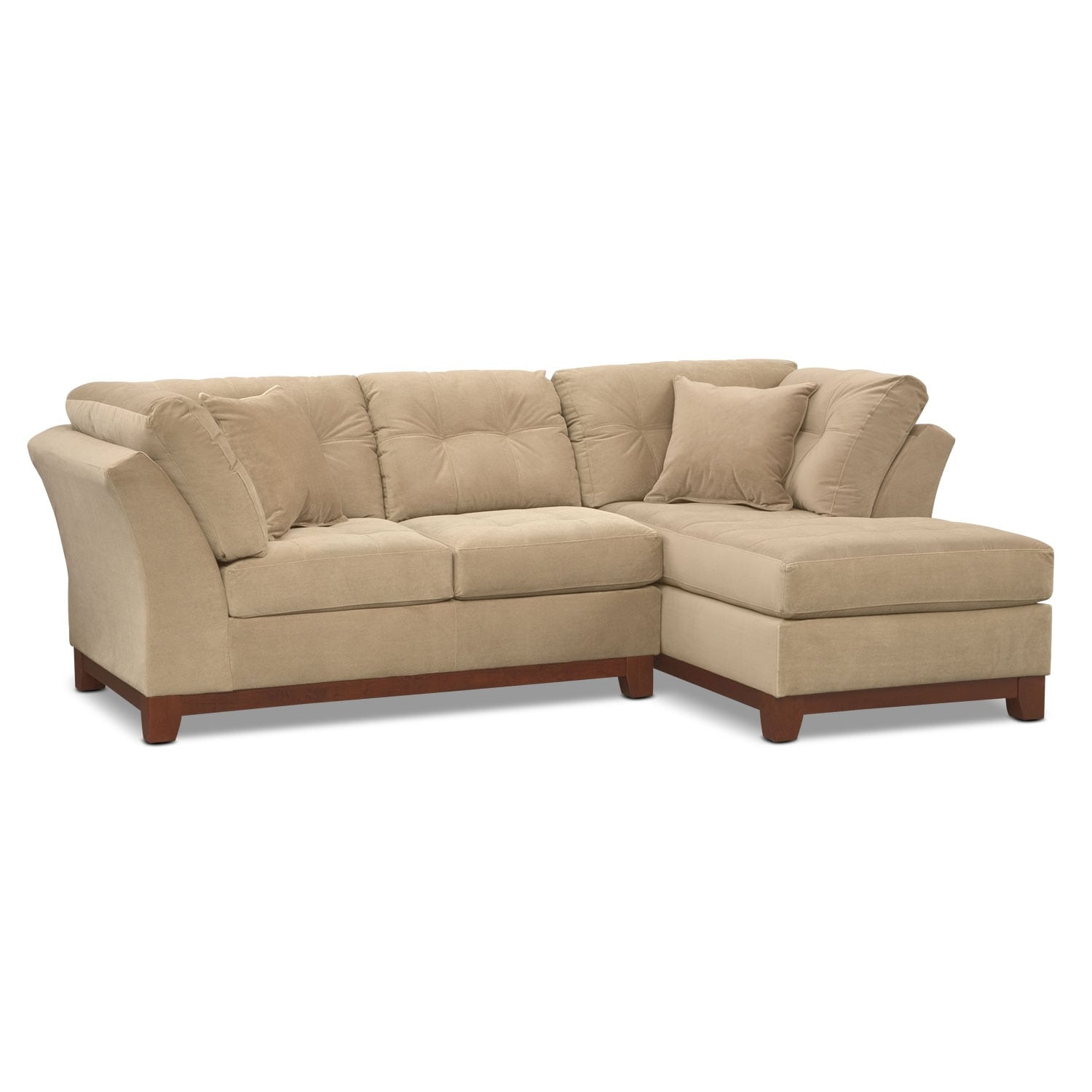 Solace 2-Piece Right-Facing Chaise Sectional - Cocoa
