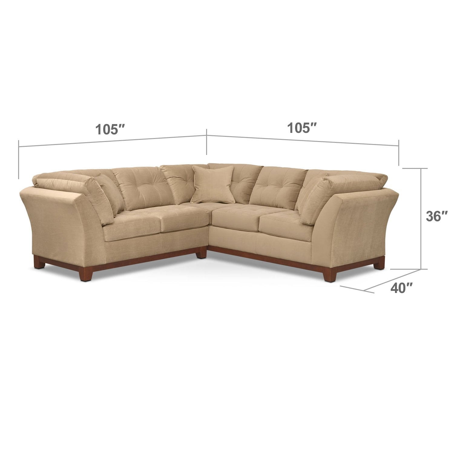 Living Room Furniture - Sebring 2-Piece Sectional with Left-Facing Loveseat - Cocoa
