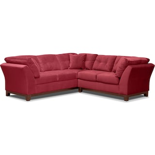 Sebring 2-Piece Sectional with Right-Facing Loveseat - Poppy