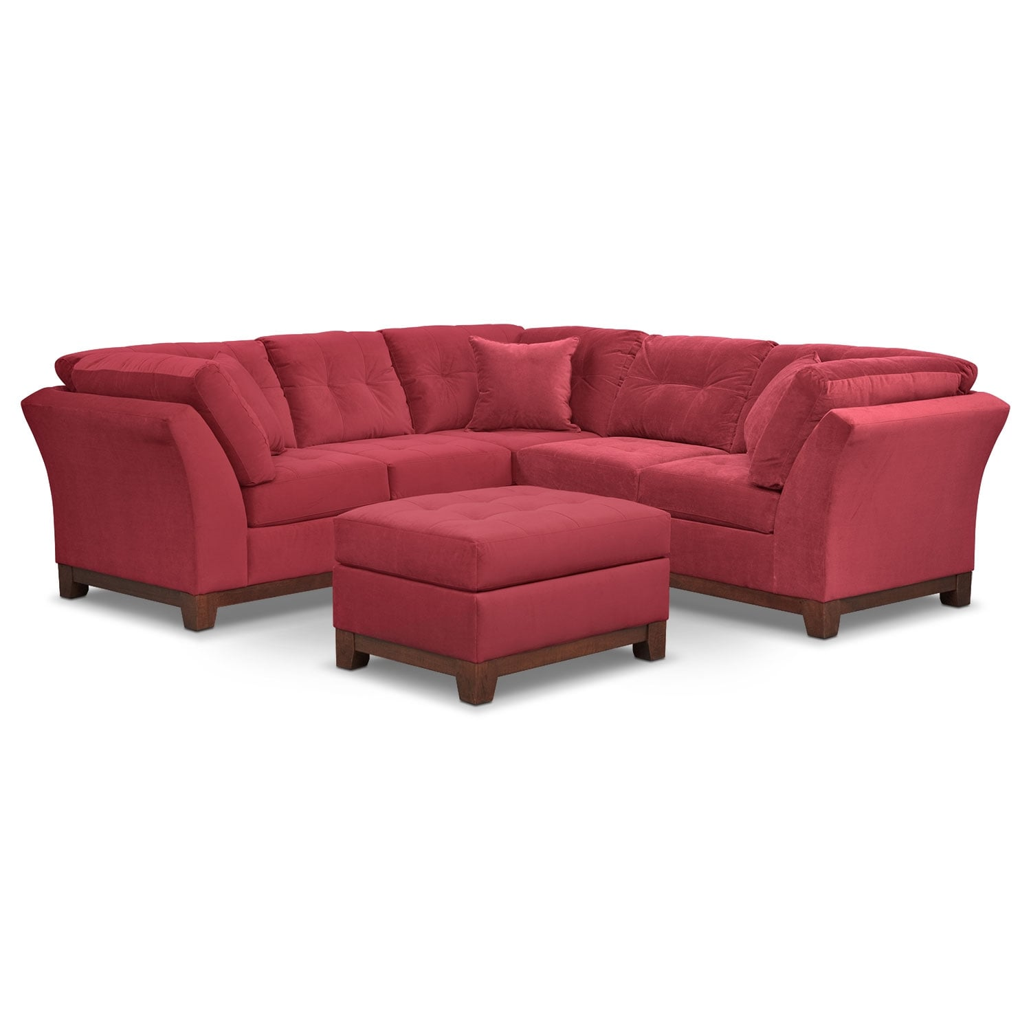 Solace Poppy II 2 Pc. Sectional (Alternate II Reverse) and Ottoman