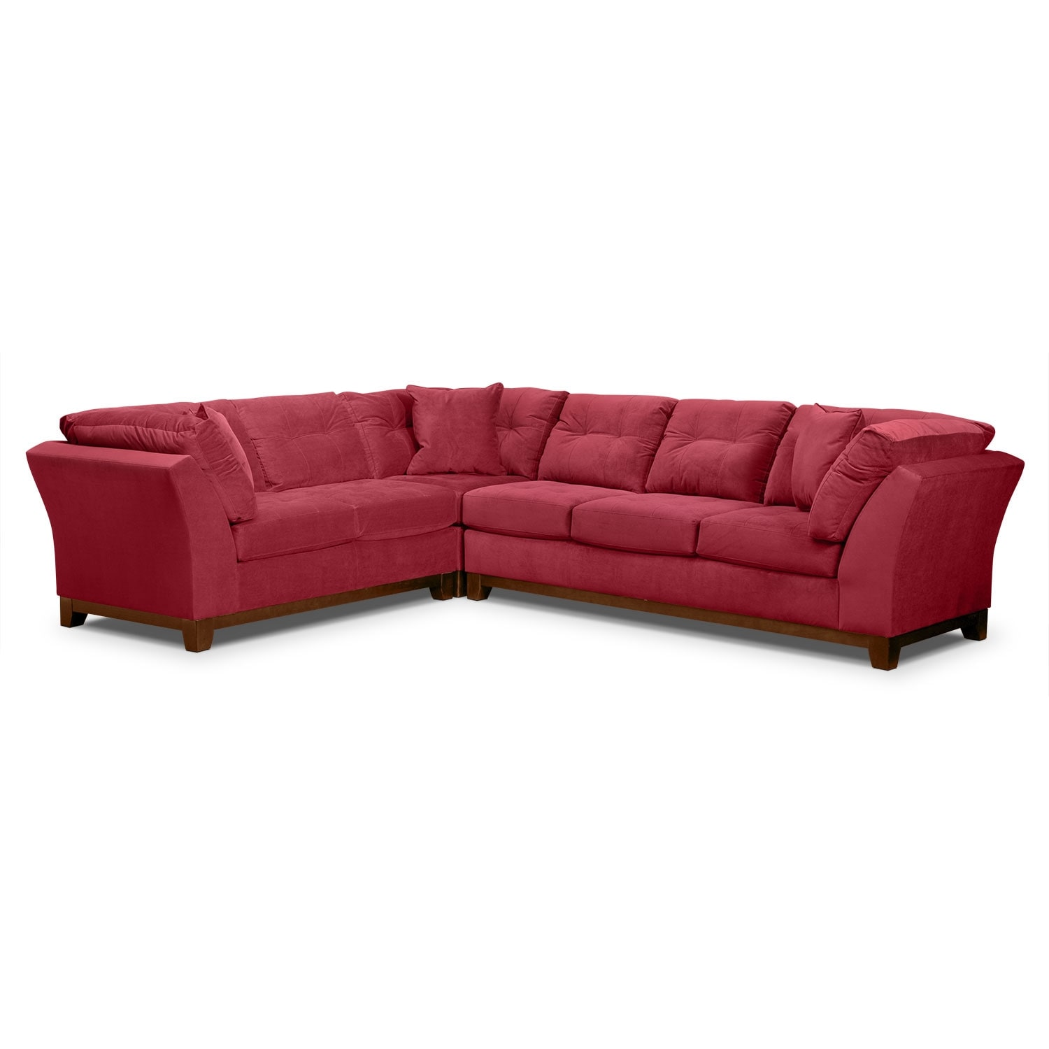 Solace 3-Piece Right-Facing Sofa Sectional - Poppy