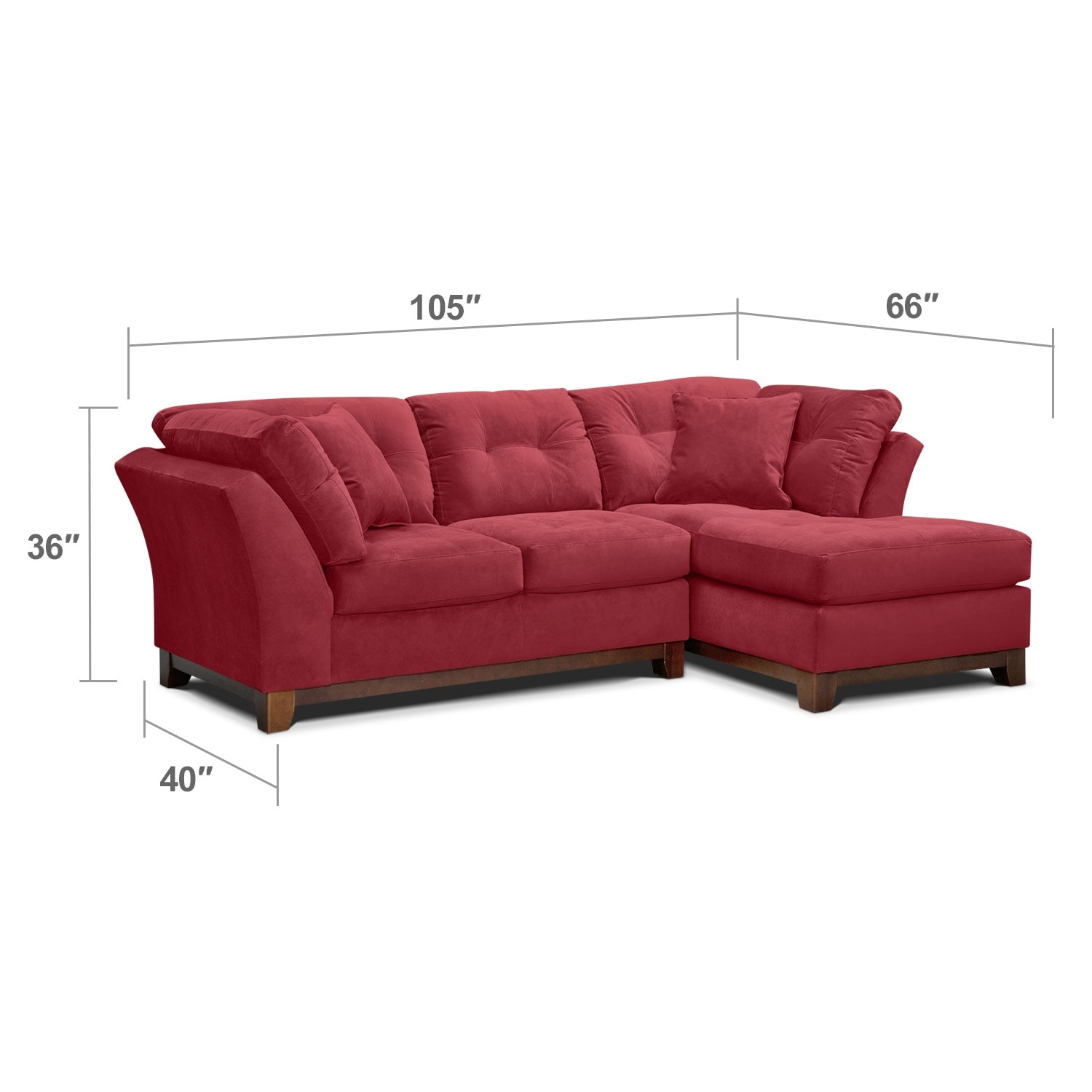 Living Room Furniture - Solace Poppy II 2 Pc. Sectional (Alternate Reverse)