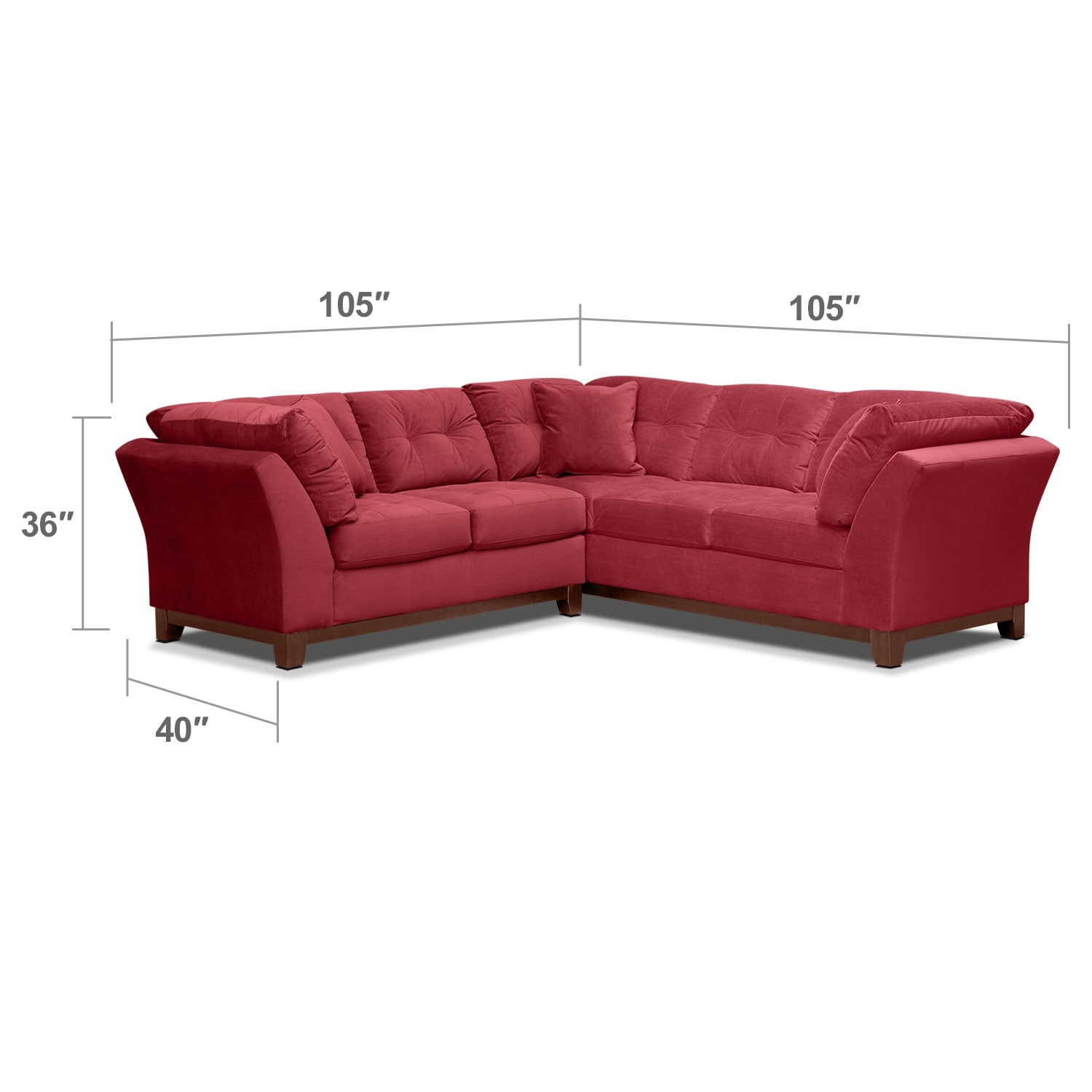 Living Room Furniture - Solace Poppy II 2 Pc. Sectional (Alternate II)