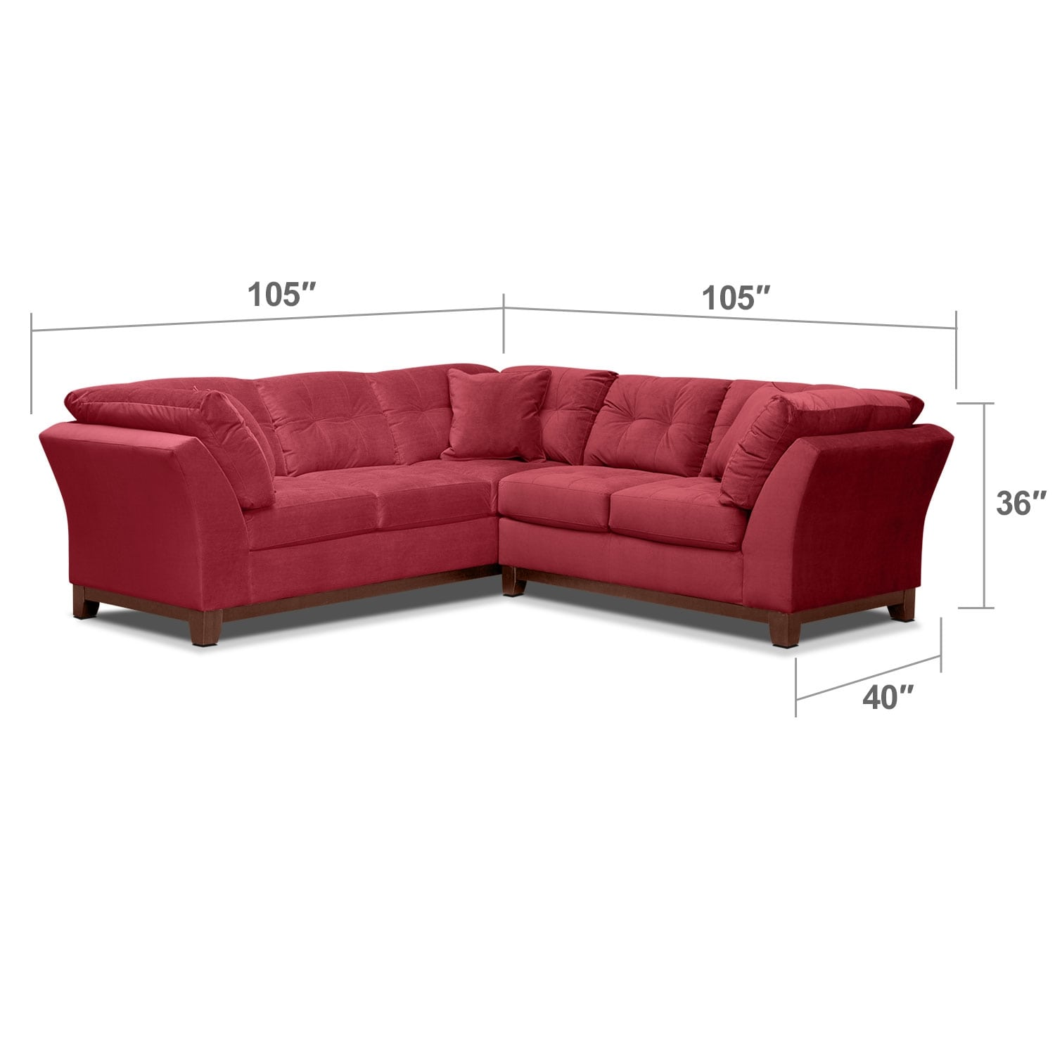 Living Room Furniture - Solace Poppy II 2 Pc. Sectional (Alternate II Reverse)