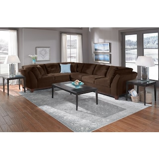 The Sebring Sectional Collection - Chocolate