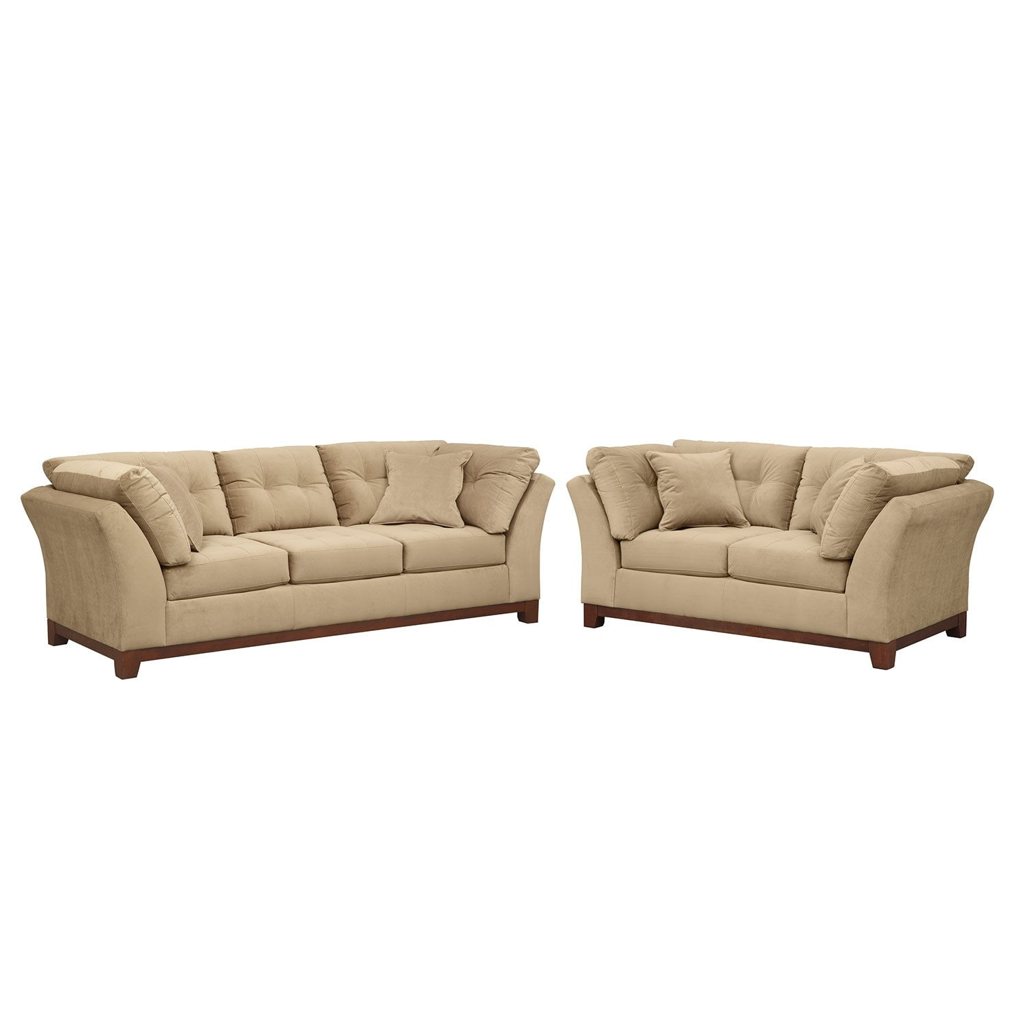 Living Room Furniture - Solace Cocoa 2 Pc. Living Room