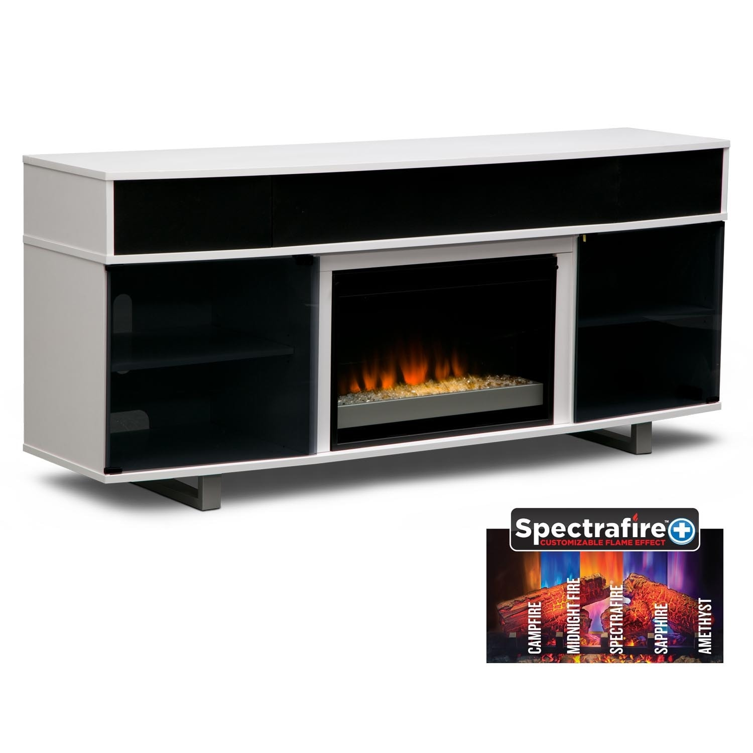 Pacer 72 Contemporary Fireplace Tv Stand With Sound Bar