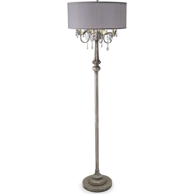 Chandelier floor lamp value city furniture and mattresses home accessories chandelier floor lamp mozeypictures Images