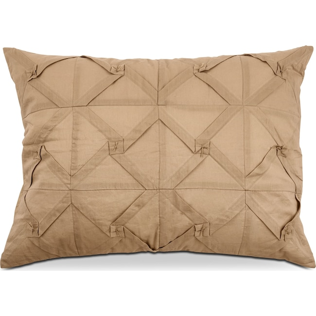 Accent and Occasional Furniture - Pomona King Quilted Sham - Khaki