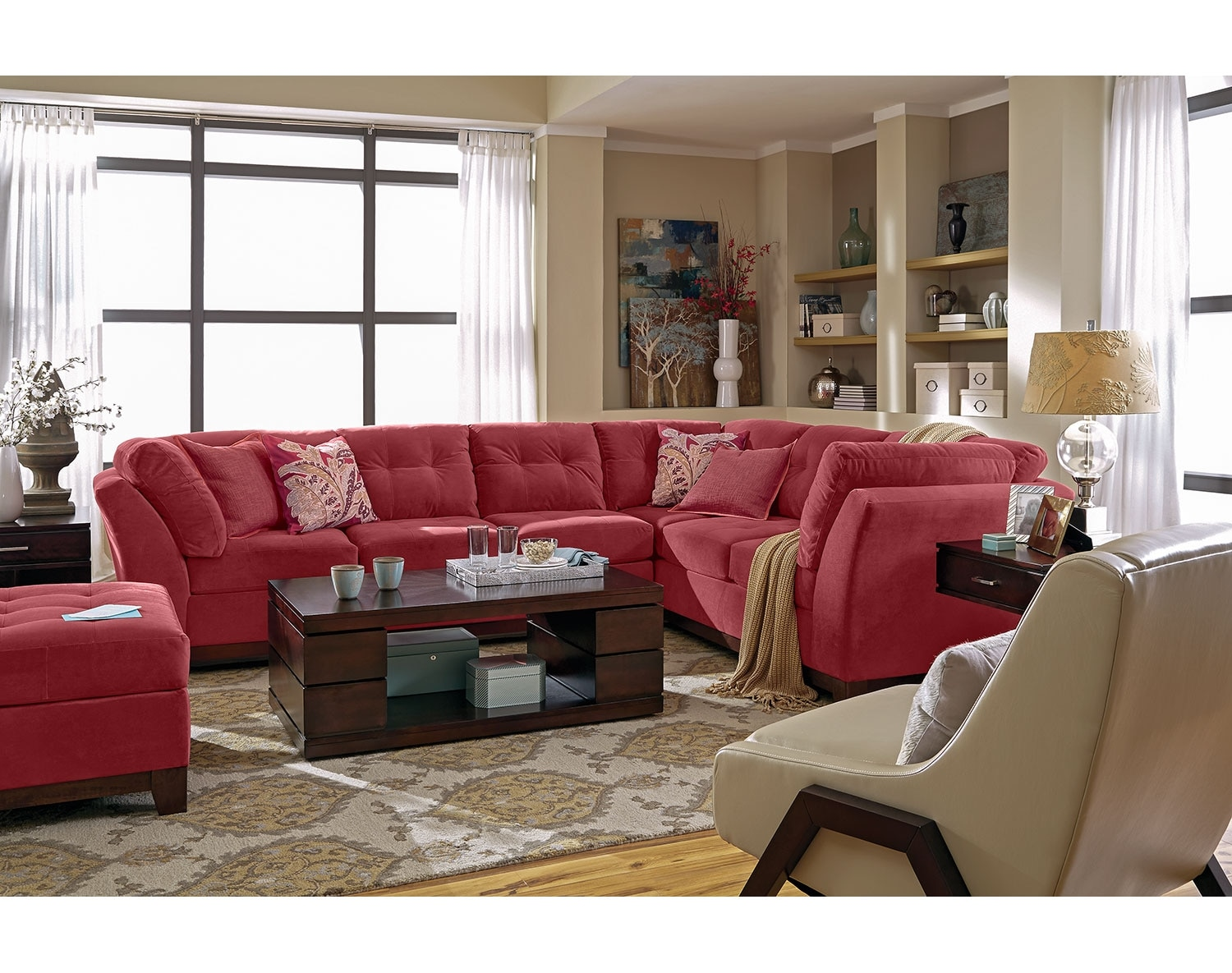 The Solace Sectional Collection - Poppy
