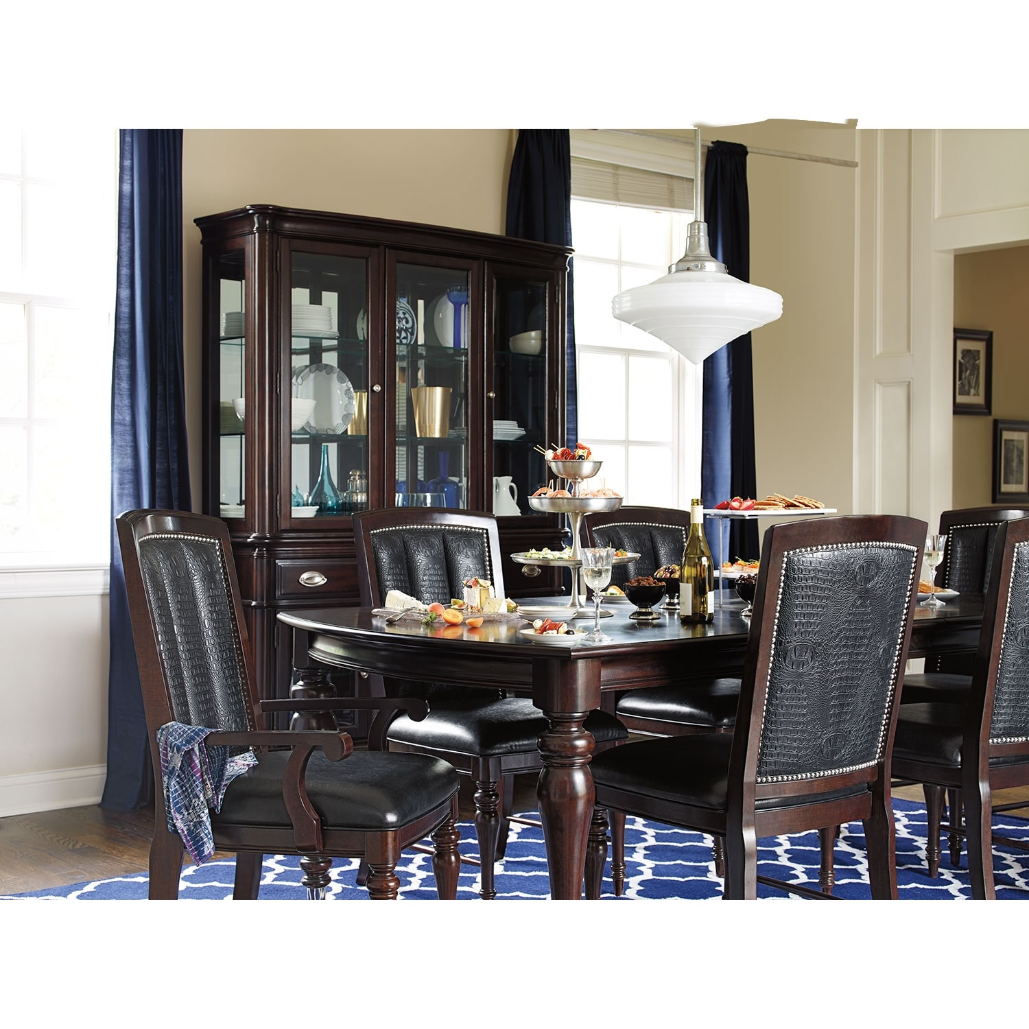 Impressive Value City Furniture Dining Room Sets: Esquire 7 Pc. Dining Room
