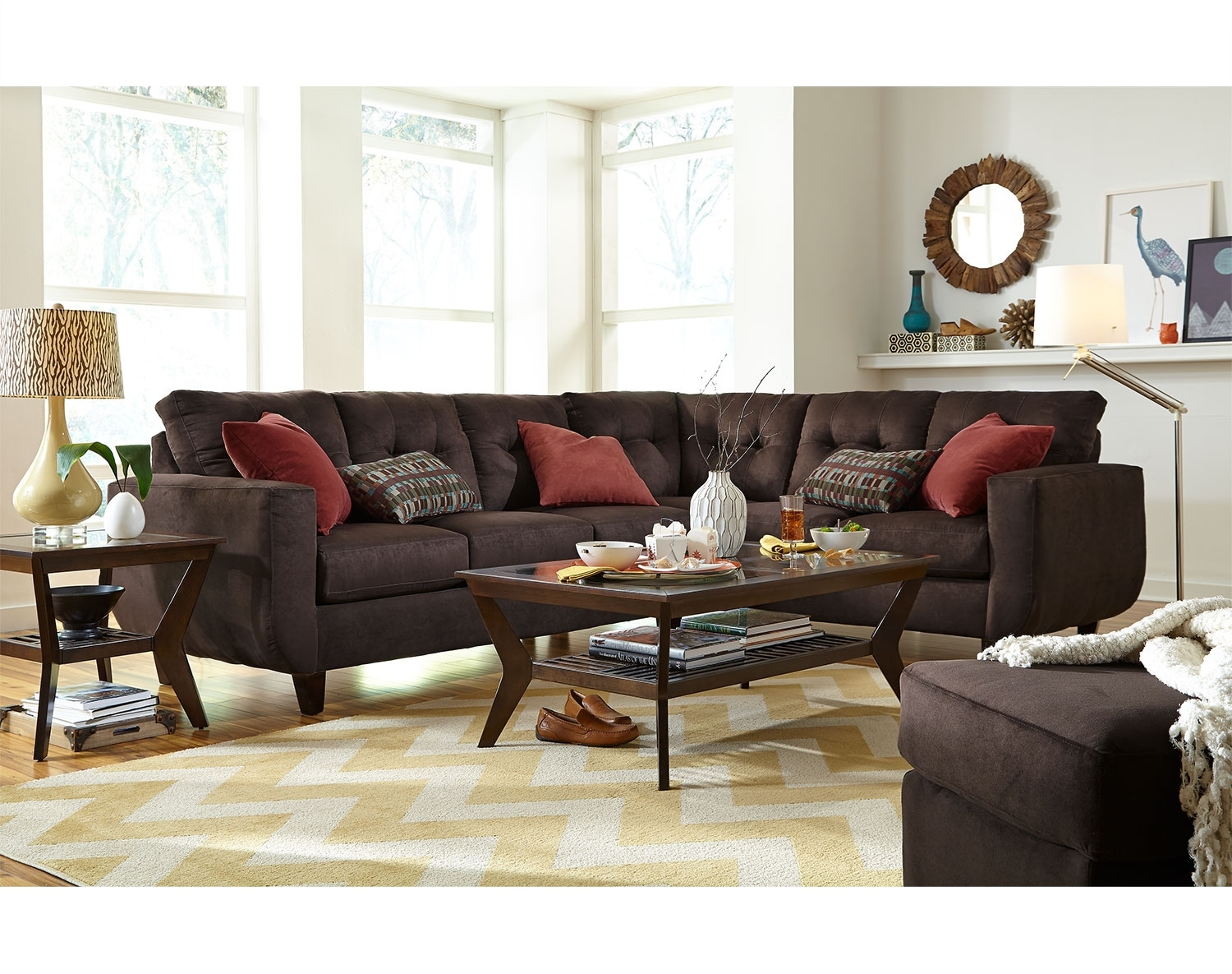The West Village Sectional Collection - Chocolate