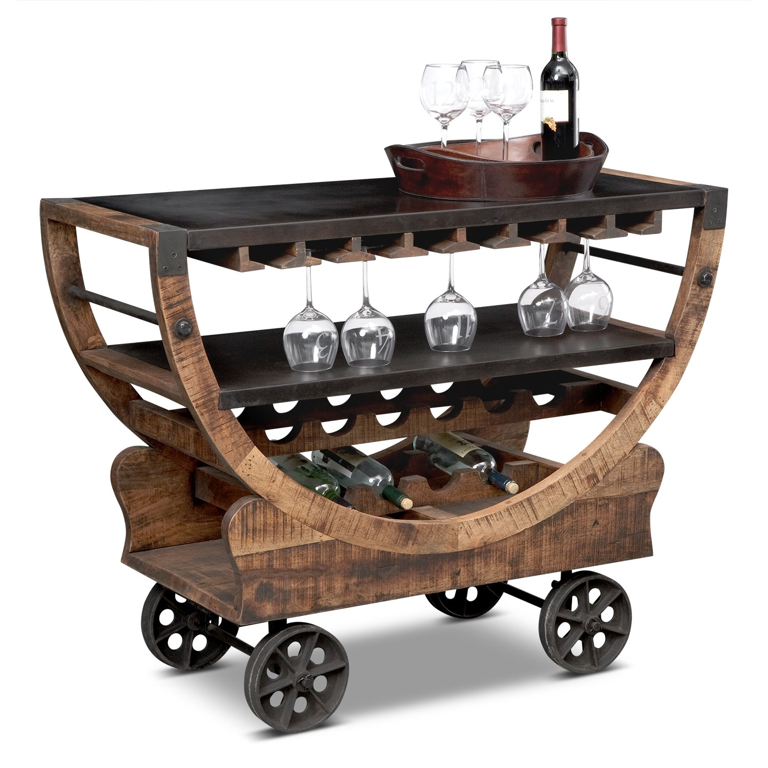 Farrell Bar Cart Brown