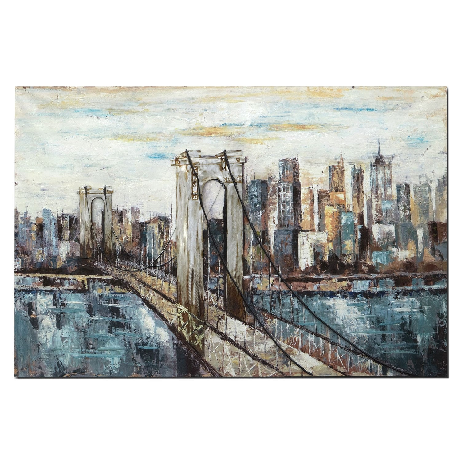 Deep Blue Bridge Painting Value City Furniture