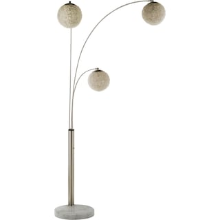 Metal Saturn Arc Floor Lamp