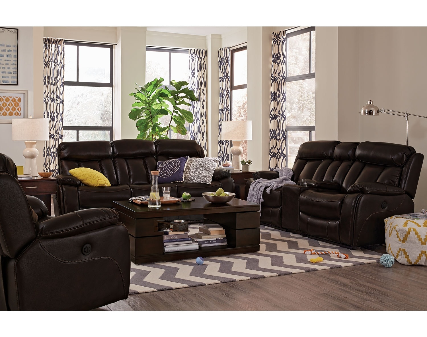 Value City Furniture Living Room The Diablo Collection Walnut Value City Furniture