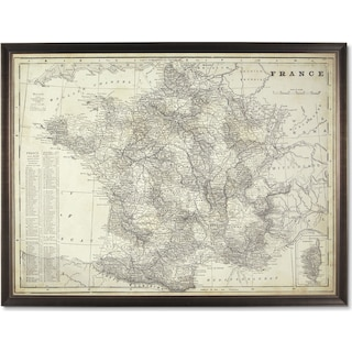 Map of France Framed Print
