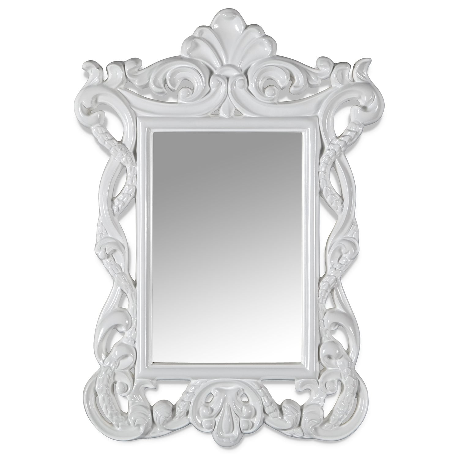 Home Accessories - Veronica Mirror - White