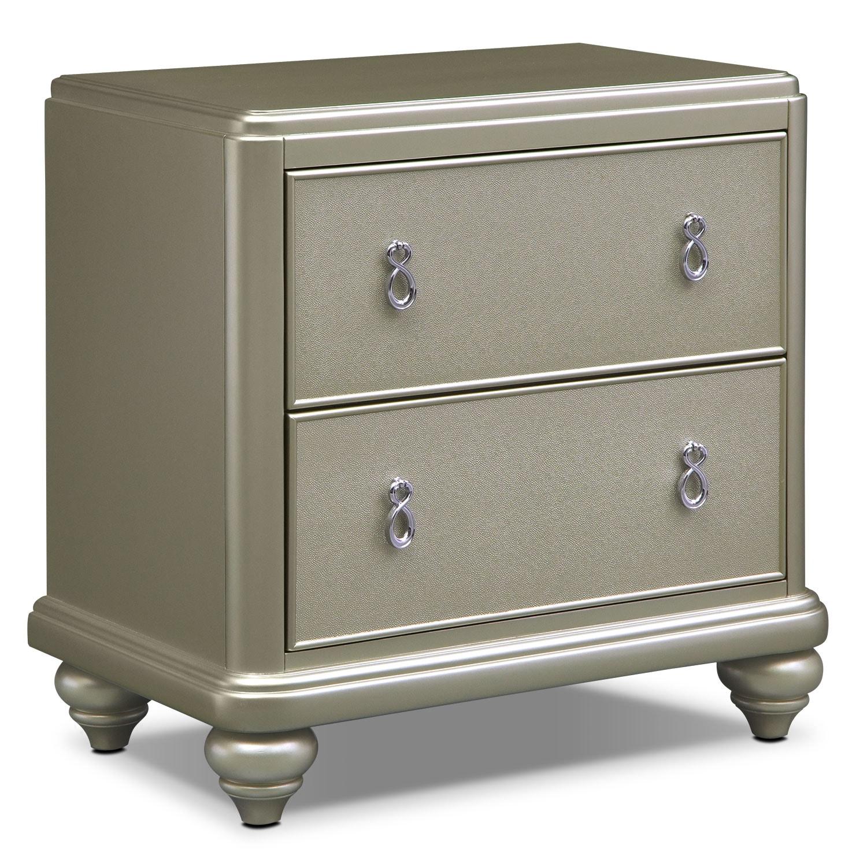Bedroom Furniture - Serena Nightstand- Platinum