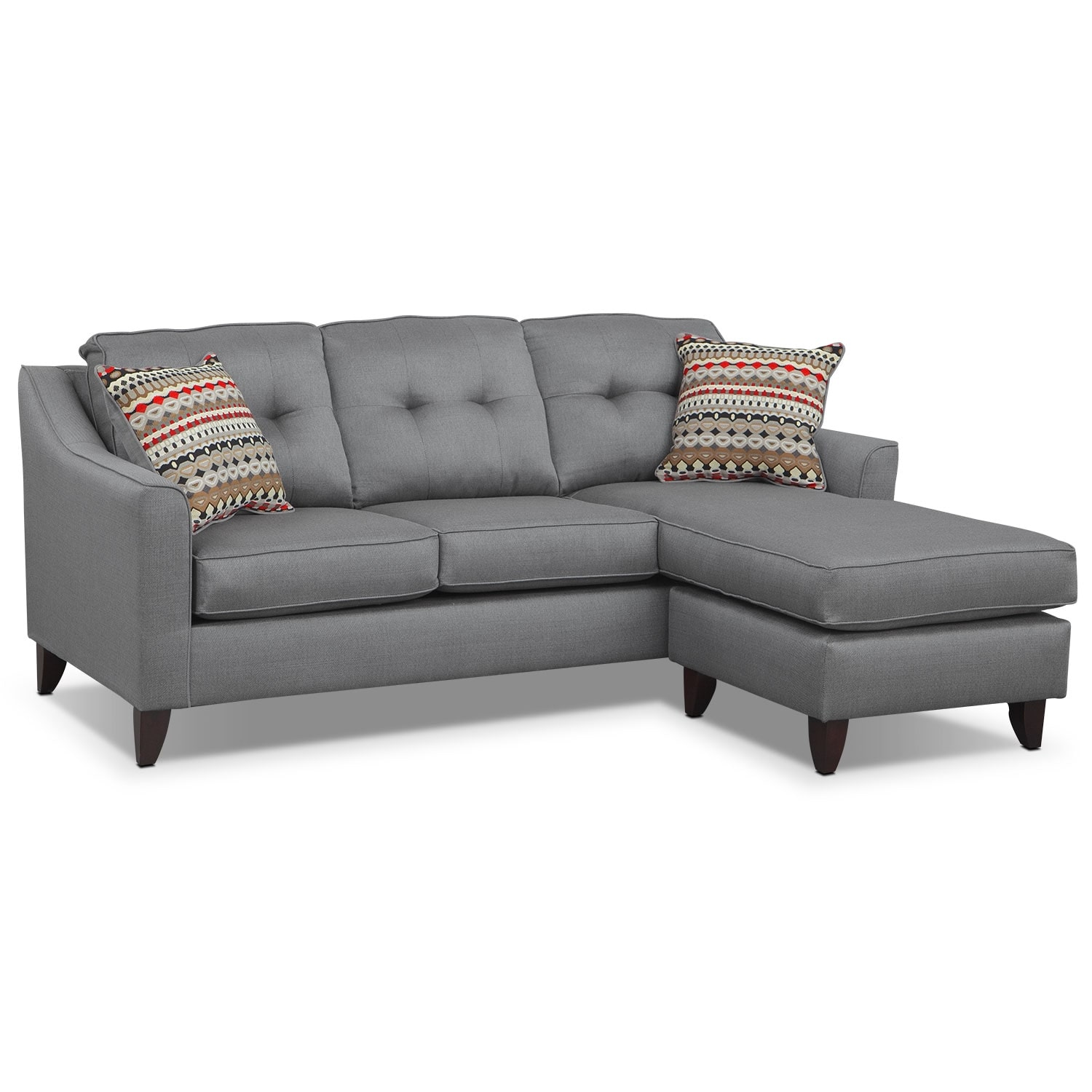 free grey gray shipping abbyson light with sectional garden in product chaise home sofa