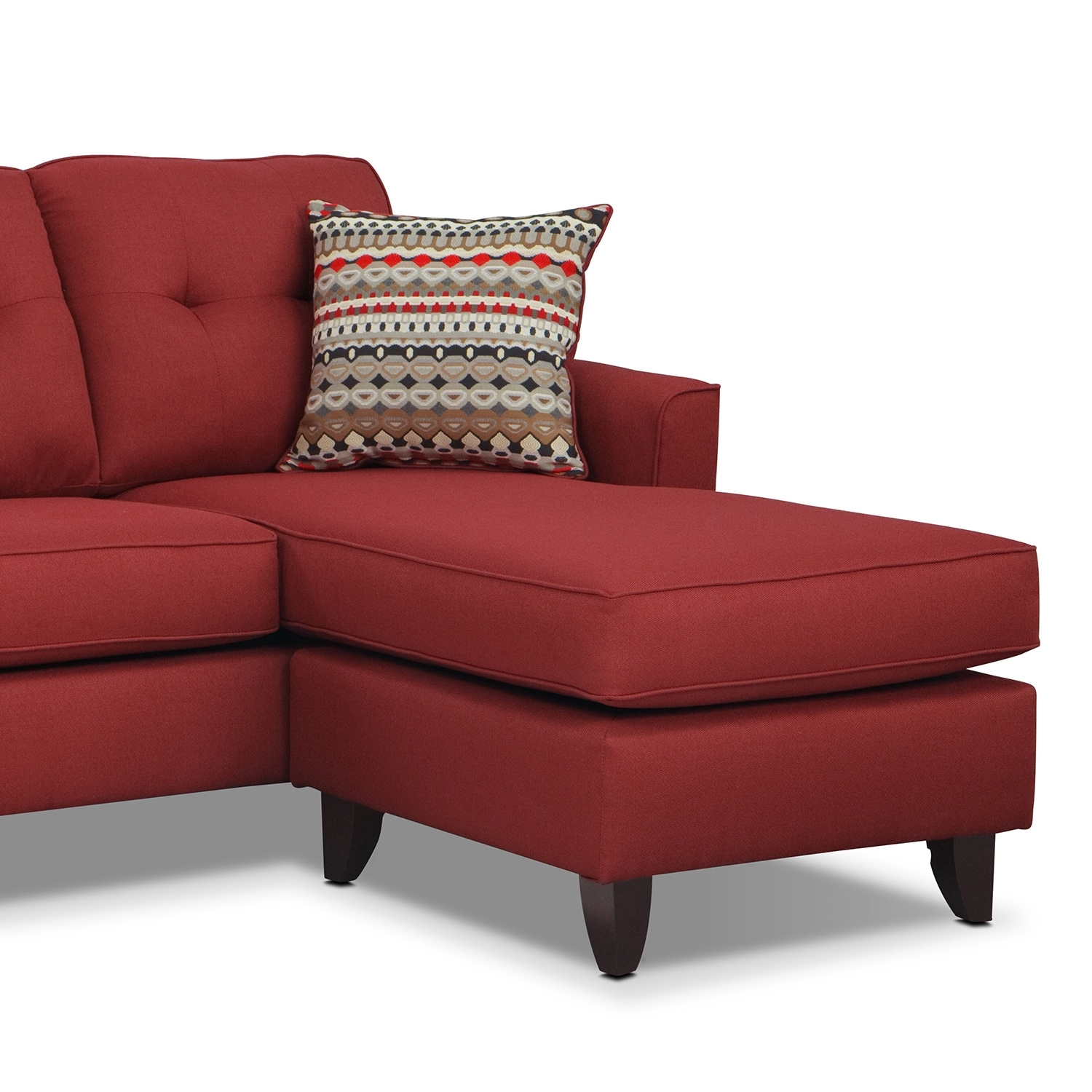marco chaise sofa  red  value city furniture - click to change image