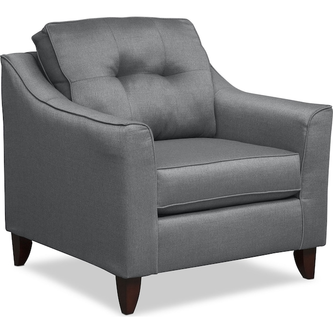 Living Room Furniture - Marco Chair - Gray