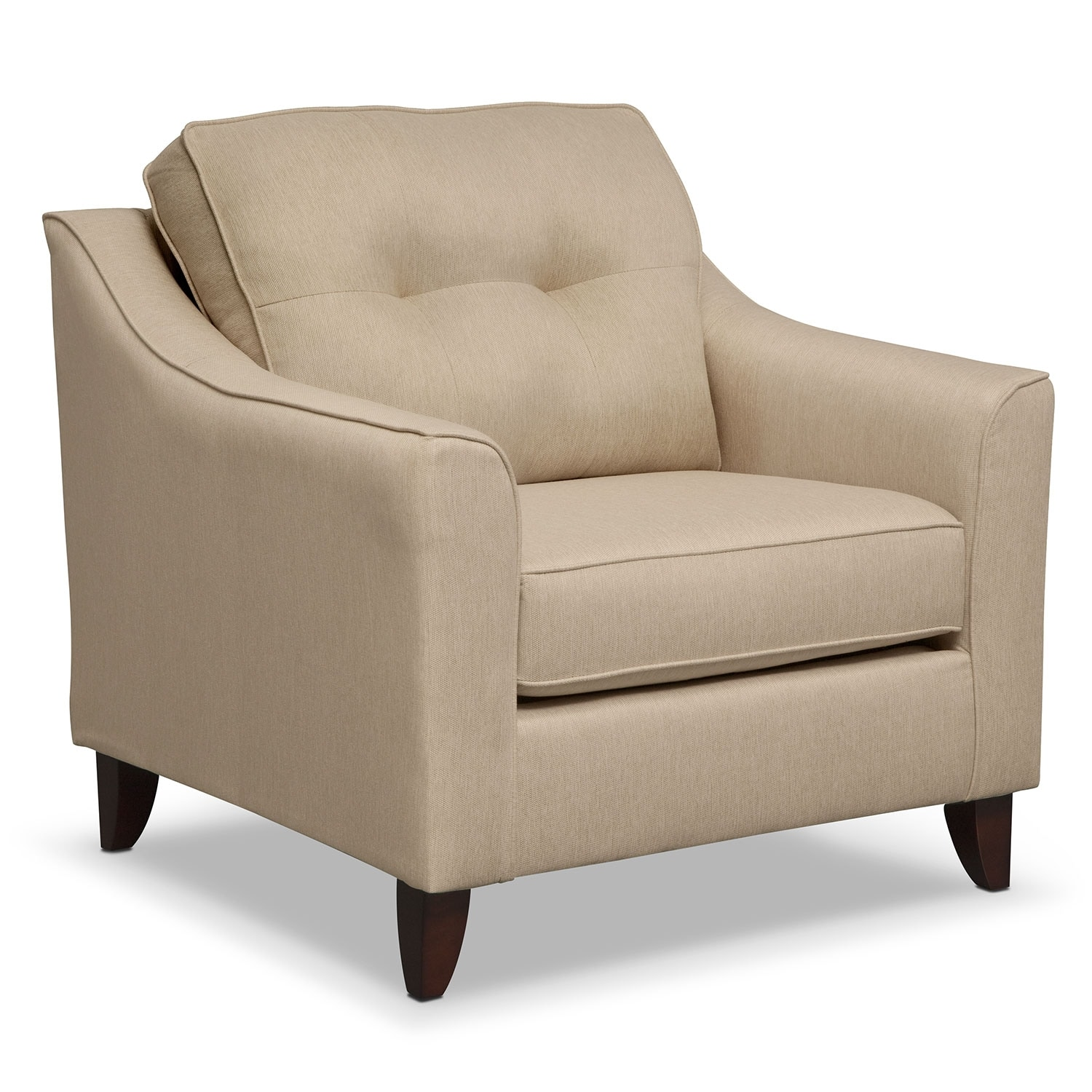 Living Room Furniture - Marco Cream Chair