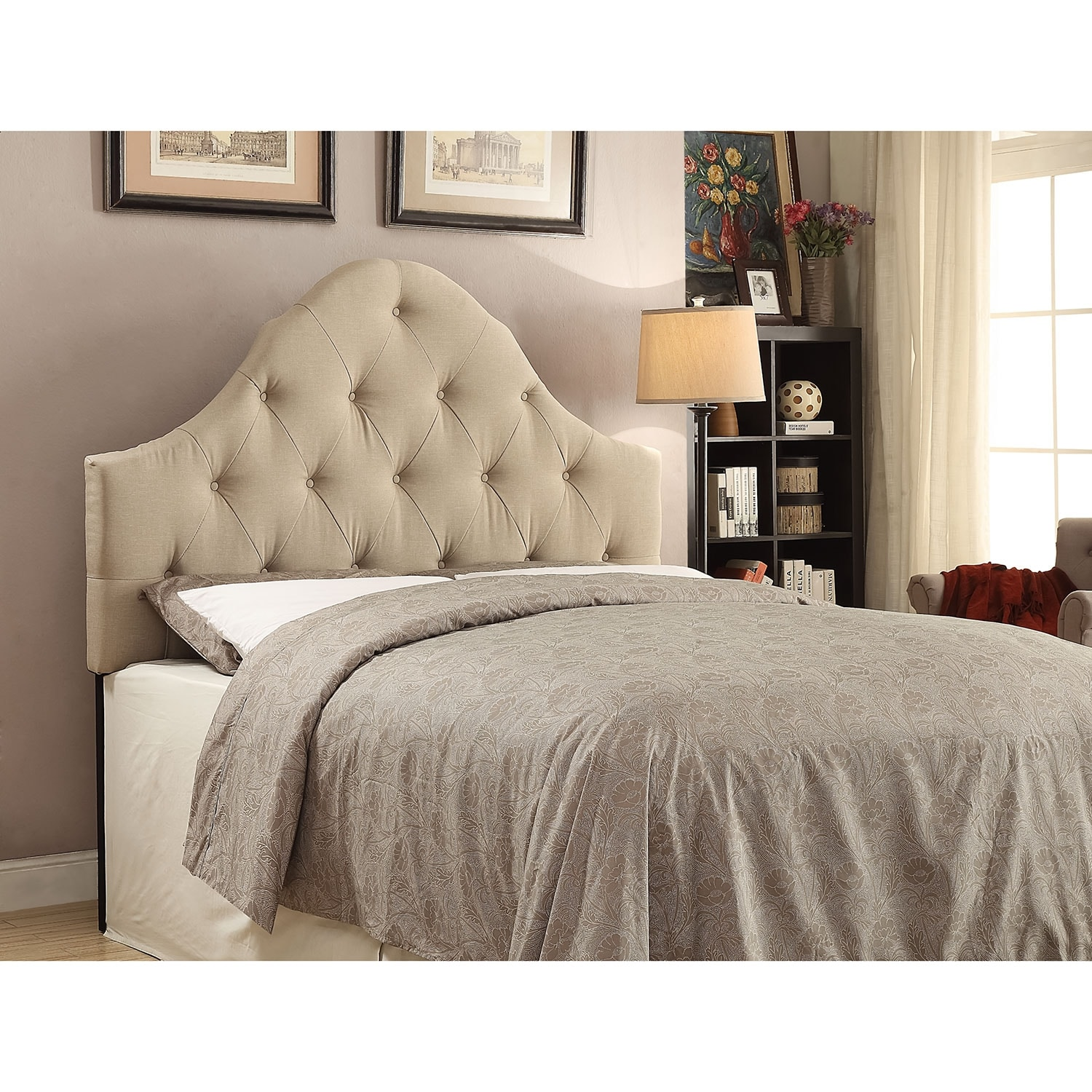 Brittany Full/Queen Headboard - Beige