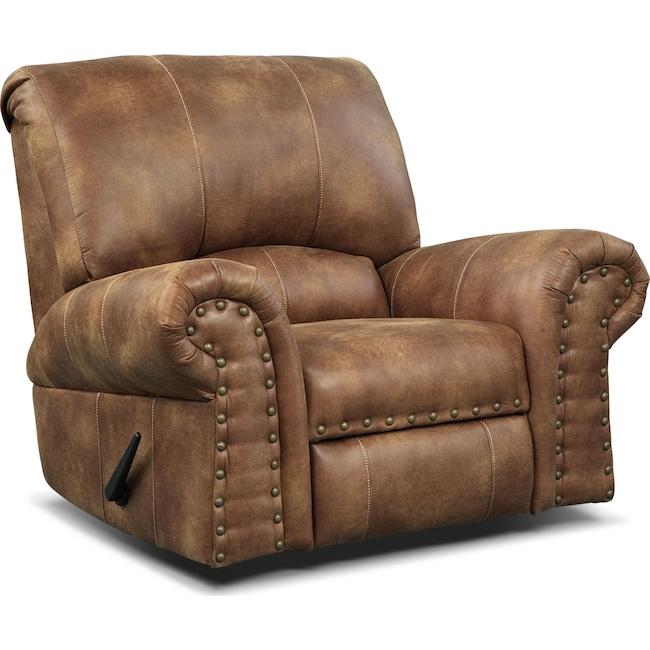 Living Room Furniture - Burlington Recliner - Cognac