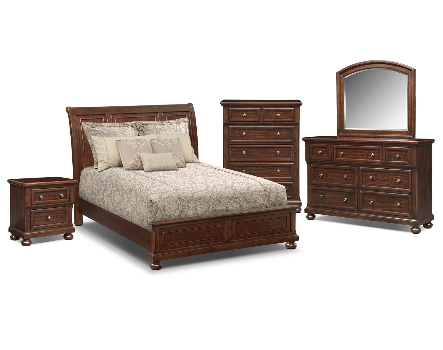 The Hanover Panel Bedroom Collection Cherry Value City Furniture