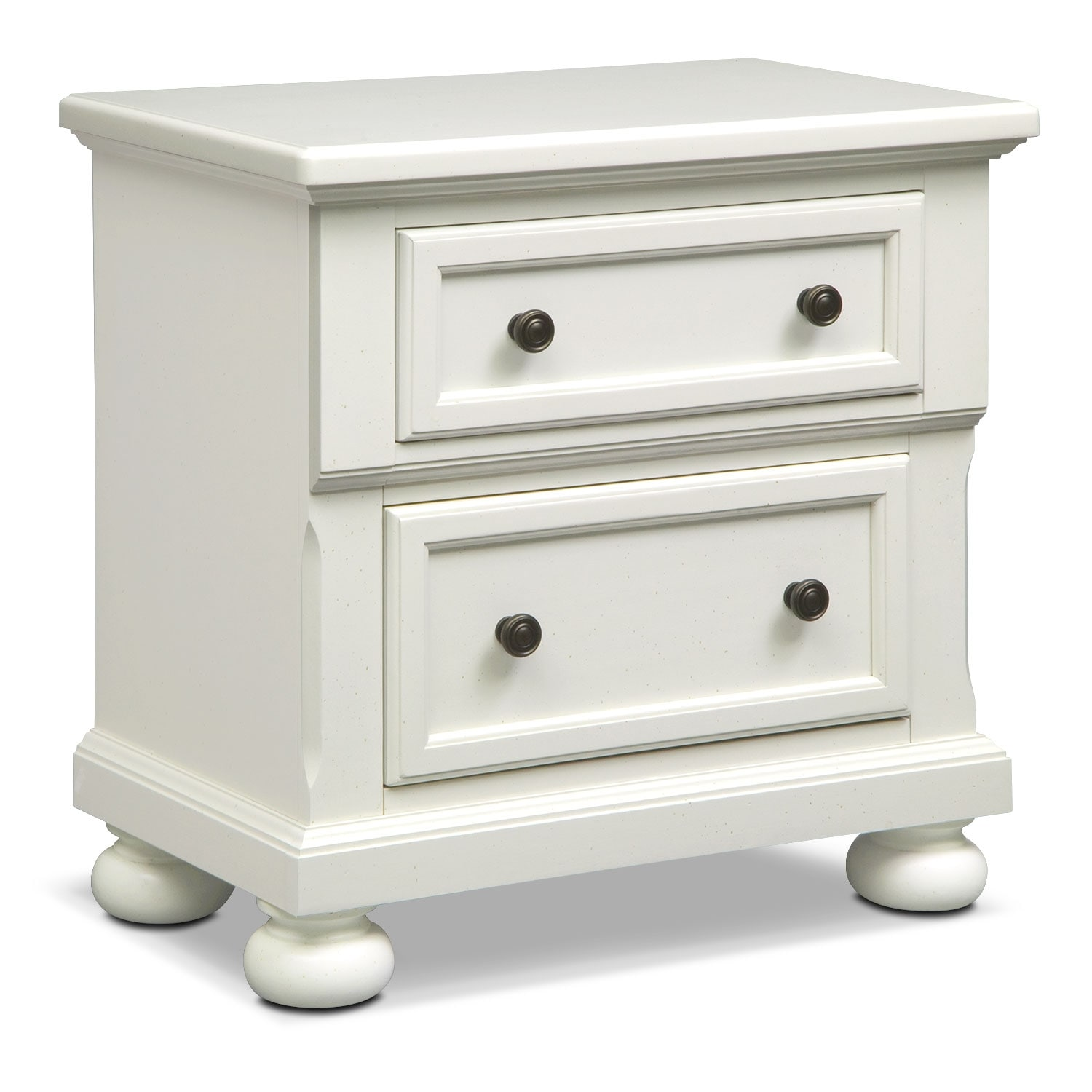 Hanover White Panel Nightstand
